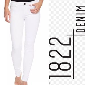 1822 WHITE ANKLE BUTTER JEANS